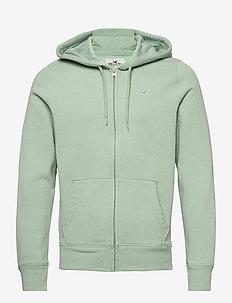 HCo. GUYS SWEATSHIRTS - sweats à capuche - sage green