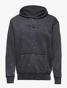 Garment Dye Script - basic sweatshirts - black dd