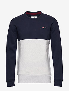 Icon Crew - basic sweatshirts - navy sd/texture