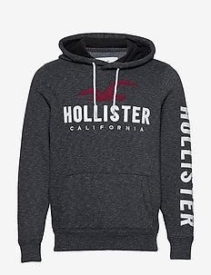 Tech Logo Po - hoodies - black sd/texture