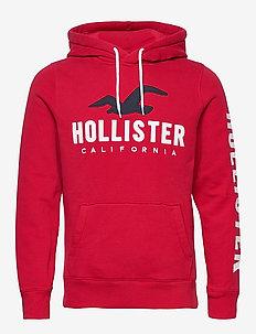 Tech Logo - hoodies - red dd