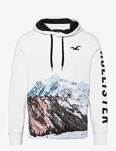 HCo. GUYS SWEATSHIRTS - sweats à capuche - white pattern