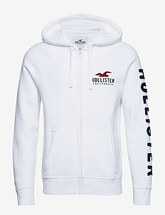 Full Zip Sweatshirt - WHITE