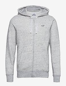 Full Zip Sweatshirt - LIGHT GREY SD/TEXTURE