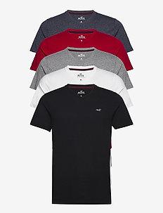 V-neck T-shirt - t-shirts à manches courtes - white/grey/red/navy/black