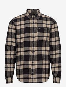 HCo. GUYS WOVENS - geruite overhemden - light brown pattern