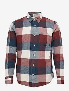 HCo. GUYS WOVENS - casual skjortor - navy pattern