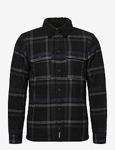 HCo. GUYS WOVENS - hauts - black pattern