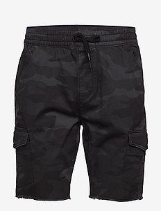 Jogger Short - cargo shorts - black plaid