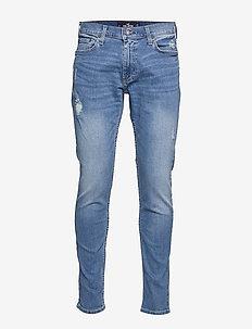 Hollister Epic Flex Skinny Jeans - LIGHT DESTROY