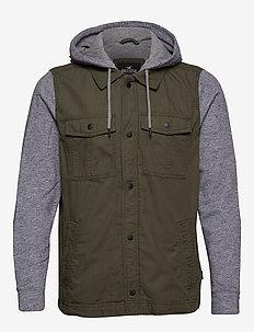 Twofer Jacket - basic skjortor - olive dd