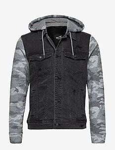 Denim Jacket - kurtki dżinsowe - black destroy
