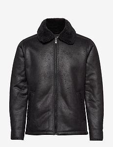 Shearling Aviator - vestes en cuir - black dd