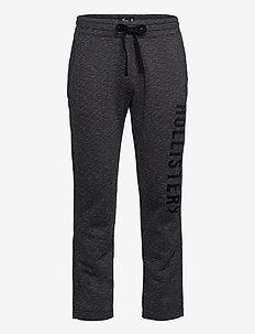 Straight Leg Sweatpants - joggebukser - black sd/texture