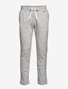 Lightweight Straight-Leg Sweatpants - LIGHT GREY SD/TEXTURE