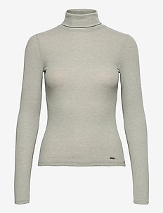 TURTLE NECK - pologenser - grey