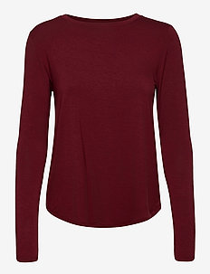 HCo. GIRLS KNITS - langermede topper - burgundy dd