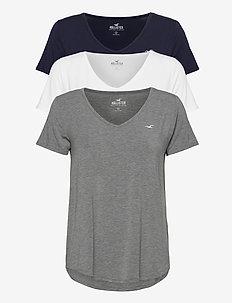 HCo. GIRLS KNITS - t-shirts - white.grey.navy
