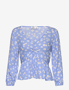 Twist Front Baby Doll 3Cc $39.95 - long sleeved blouses - light blue print