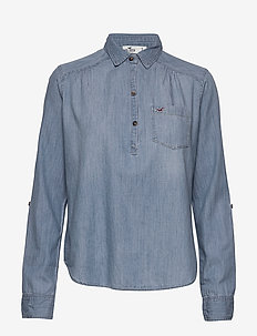 Chambray Popover - chemises en jeans - medium