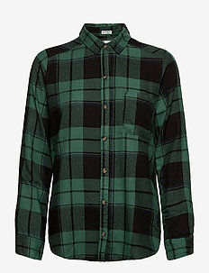 FLANNEL - långärmade skjortor - green plaid