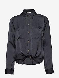 Satin Shirt - DARK GREY FLAT