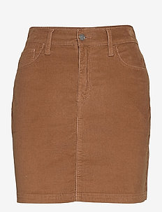CURVY CORD MINI - jupes courtes - mocha