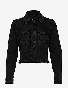 Cropped Black Denim - spijkerjassen - black dd