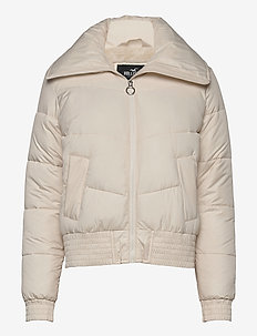 FUR LINED FASHION PUFFER - fôrede jakker - cream
