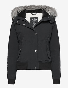BLACK ALL WEATHER BOMBER - bomber jakker - black