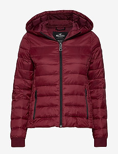 Lightweight Puffer Jacket - BURGUNDY DD