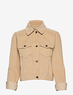 Cropped Corduroy Jacket - LIGHT BROWN DD