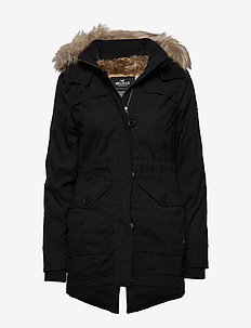 Fur Lined Parka - parka coats - black dd