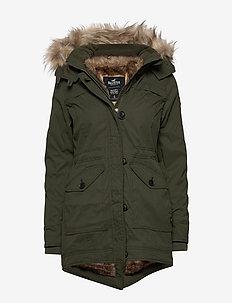 Fur Lined Parka - OLIVE DD