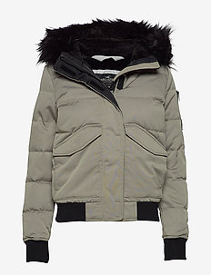 Down Puffer Bomber - LIGHT GREY FLAT