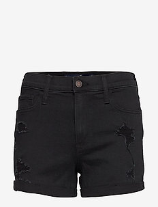Shorts - jeansowe szorty - black destroy