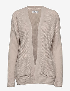 Honeycomb Cardigan - WHITE