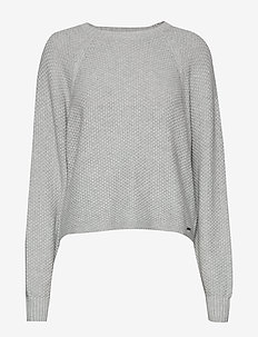 Raglan Sweater - LIGHT GREY SD/TEXTURE