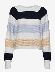 Raglan Sweater - NAVY STRIPE