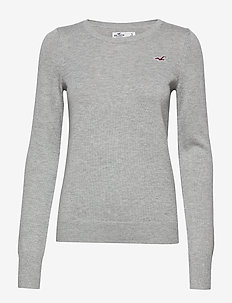 Icon Jersey Crew Pullover - LIGHT GREY SD/TEXTURE
