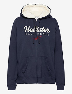 SHERPA - hoodies - navy