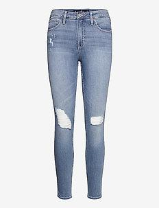 HCo. GIRLS JEANS - boyfriend jeans - medium/light destroy high rise super skinny jean