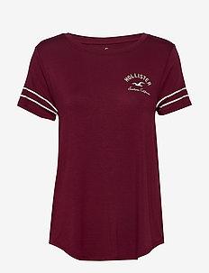 Print Core Solids - t-shirty - burgundy dd