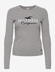 HCo. GIRLS GRAPHICS - long-sleeved tops - grey