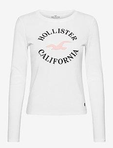 HCo. GIRLS GRAPHICS - long-sleeved tops - white