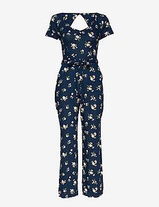 Dress - navy print