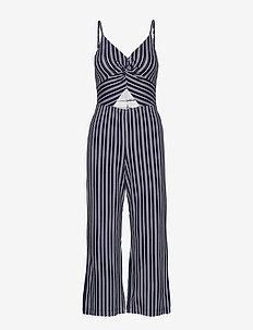 Twist Jumpsuit - LIGHT BLUE STRIPE