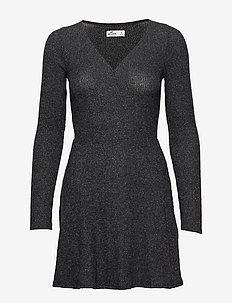Asym Brush Dress - DARK GREY FLAT
