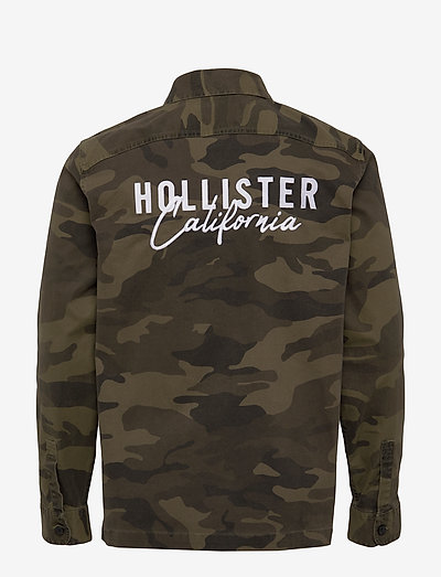 Hollister Backgraphic Overshirts- Takit & Päällystakit Green Camo