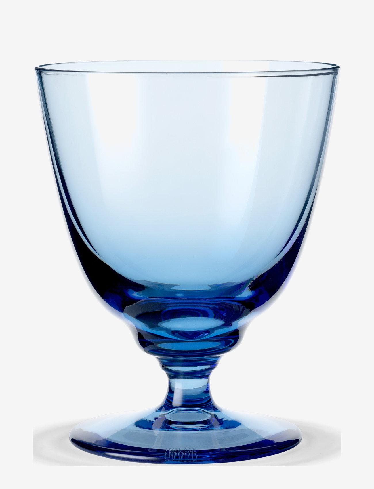 Holmegaard - Flow Glas på fod 35 cl - vinglass - blue - 0